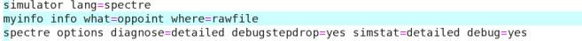 Specre debugging options