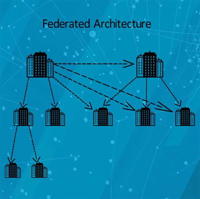 What is federated cloud architecture?