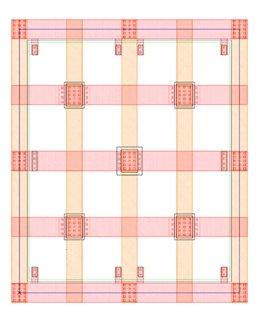 Figure 3: Base Cell + Metal11/Via11 Power Grid