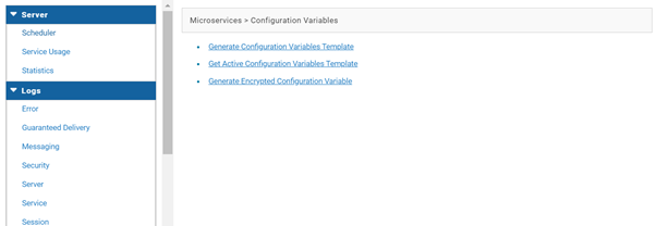 Administration tab shows the integration server details as below