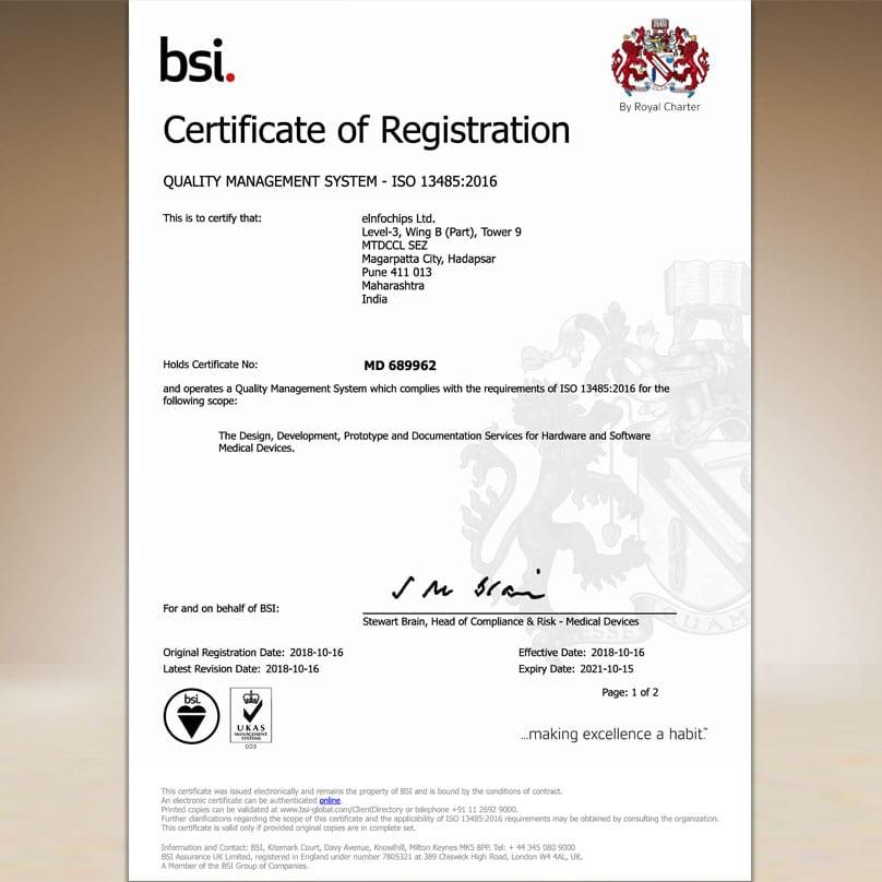 BSI ISO13485:2016