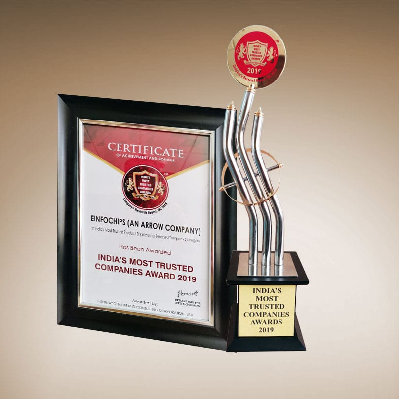 """Recognized as """"India's Most Trusted Product Engineering Services Company"""""""